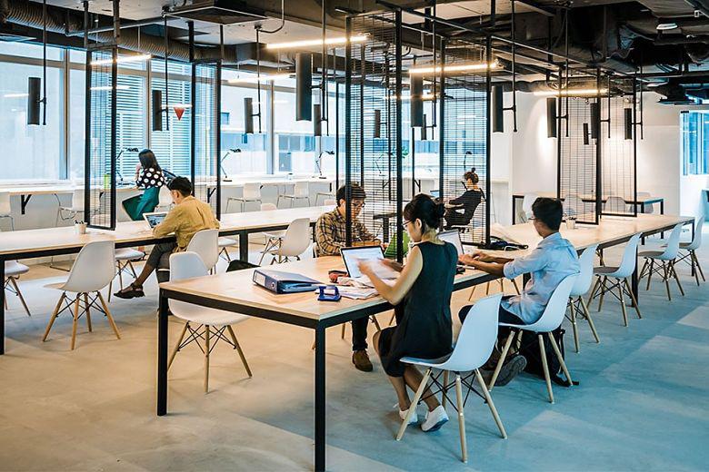 không gian làm việc coworking space