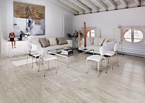 Thiết kế với tâm vân gỗ lót sàn