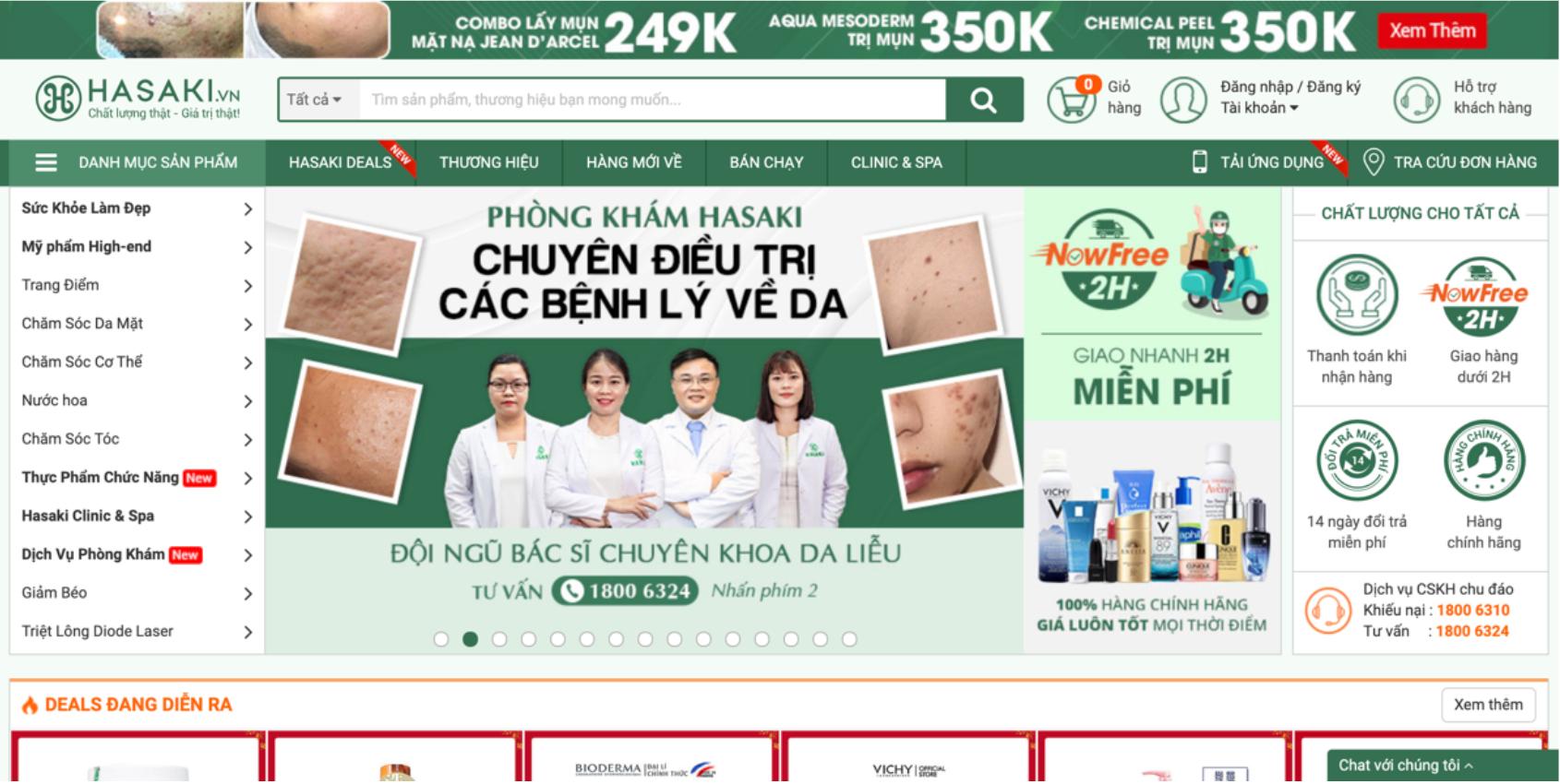 Hasaki – website chính hãng