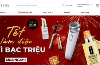 Lixibox - Trang website mua sắm trực tuyến